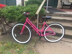 Pink SE 47cm City Cruiser Bike