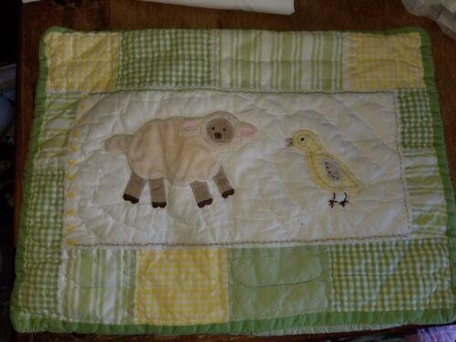 "Pottery Barn Kids ""Green/Yellow Farm Animals"" 12 X 16 Pillow Sham"
