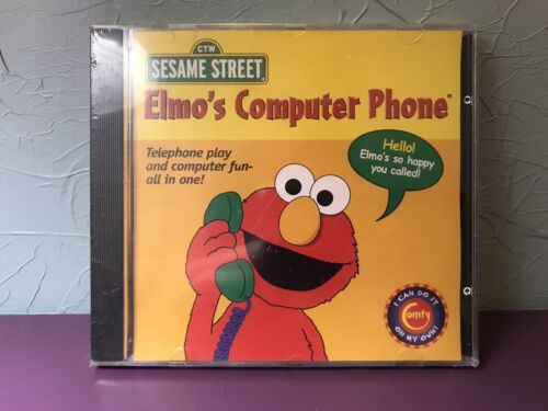 Computer Games - Rare Sesame Street Elmo's Computer Phone PC Game New Sealed