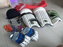 Cricket gear set - gloves, pads, helmet Milton Brisbane North West Preview