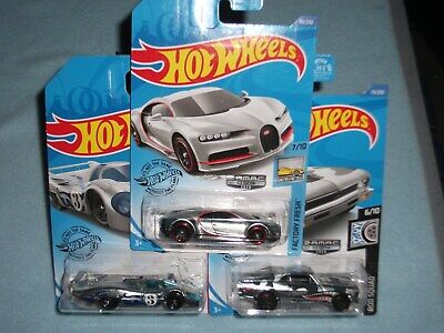 2020 HOT WHEELS WAL-MART ZAMAC LOT OF 3 68 CHEVY NOVA BUGATTI CHIRON PORSCHE 917