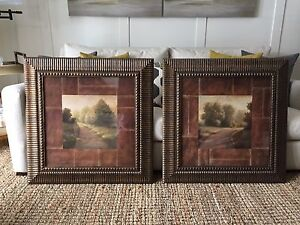 Solid wood framed pictures