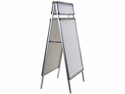Plakatständer A1 Gehwegaufsteller Kundenstopper 84x60cm + Top-Schild wetterfest