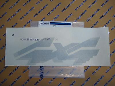 Ford F-150 F-250 F-350 RH or LH Silver 4x4 Bedside Sticker Decal OEM New Genuine