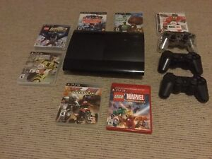 PS3, 8 games and 3 wireless remotes     150 $ OBO
