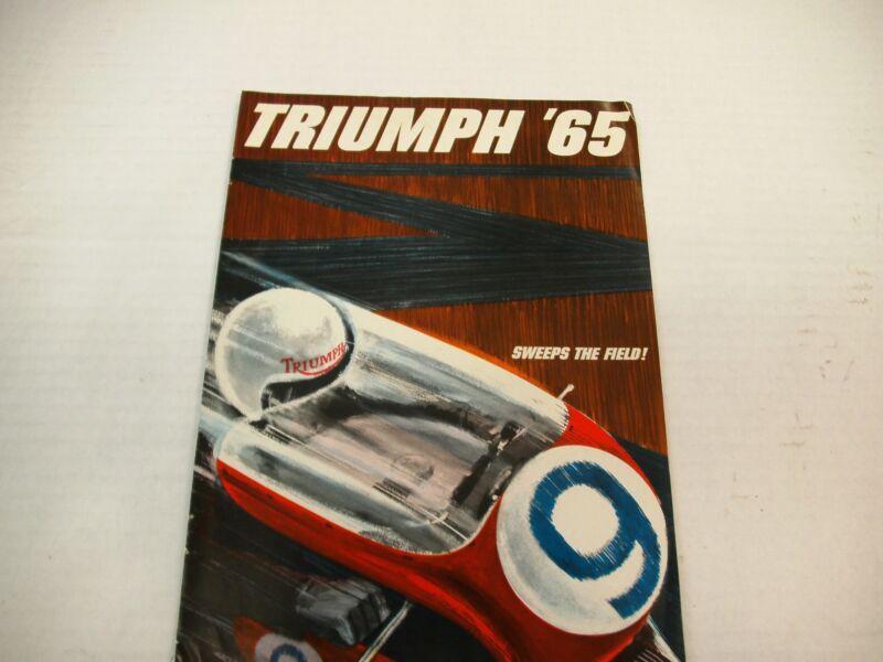 TRIUMPH 65 SWEEPS THE FIELD SALES BROCHURE 1965  ORIGINAL