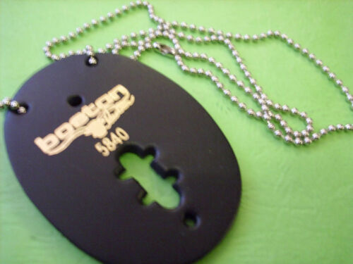 NECK CHAIN OVAL LEATHER  BADGE HOLDER NO CLIP