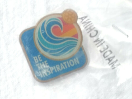 Vintage Rotary International Be The Inspiration Colorful Pin Lapel Pin Unused