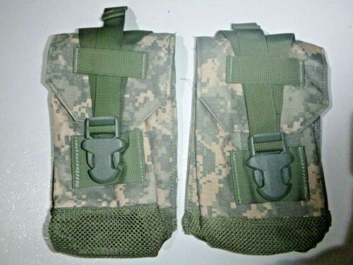 USGI Eagle Industries Lot Of 2 ACU General Purpose Canteen Pouches EXCELLENT