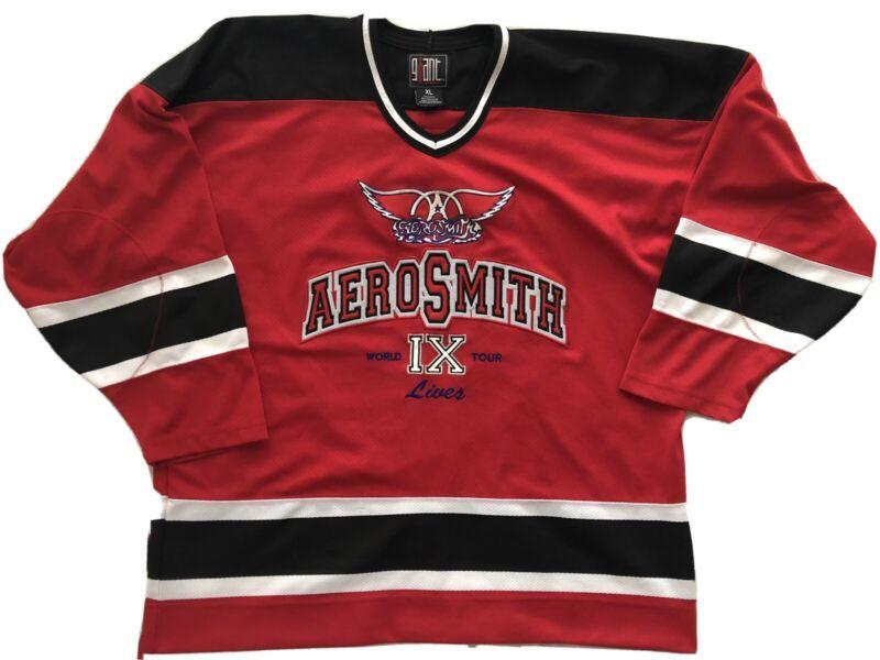 Aerosmith IX Lives World Tour Size XL Concert Hockey Jersey 9