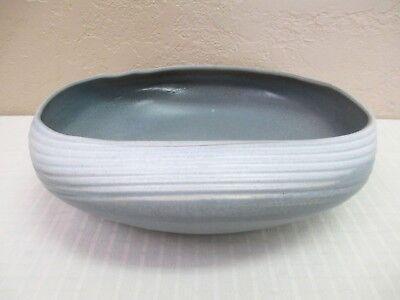 Vintage Gray Japanese Handmade Studio Art Painted Pottery Bowl w/Mark
