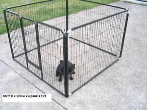 BRAND NEW Pet Dog Play Pen Run-80cmHx120cmWx4 PANEL-*FREE COVER**