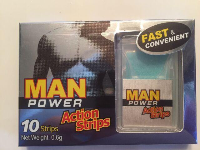 Man Power Action Strips. Erection, Impotence, Men, Sex, Hard, Orgasm, Penis
