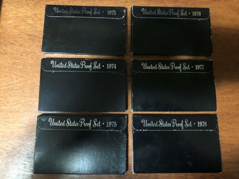 Run of (6) Eisenhower Proof Sets 1973-1978