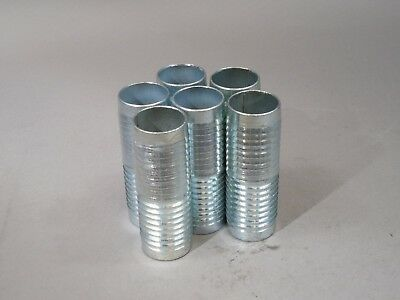 Lot Of 6 Metal Barbed Hose Union 1.5 Inch