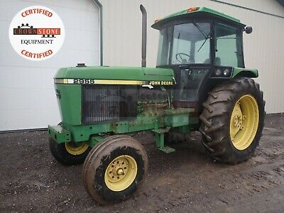 1990 John Deere 2955 Tractor Cab 2wd 3 Point 540 Pto Heat Ac Radio 97 Hp