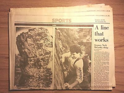 Boston Globe Sports Section October 17  1986  Bruins  Rock Climbing  Sailing