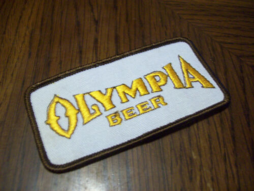 VINTAGE OLYMPIA BEER PATCH   (PUT ON )  SHIRT JACKET HAT