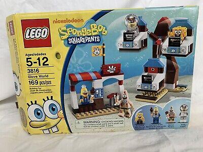 LEGO Sponge Bob Square Pants: Glove World (3816) Complete Set! Original Box.