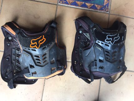 Kids motorbike helmets and chest plates