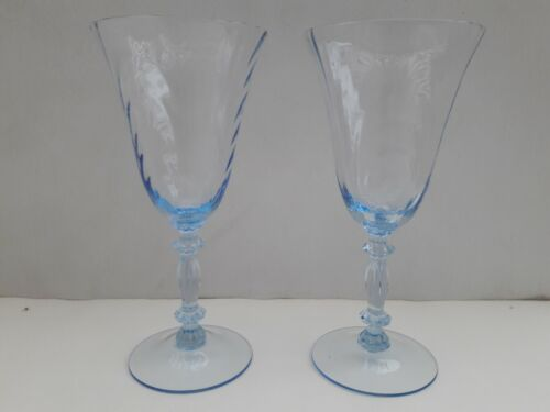 Set (2) Moonlight Blue Cambridge Caprice 9 ounce Goblet Item #300