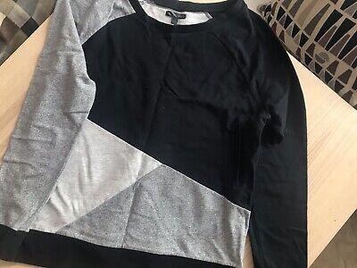 Vans Black/Grey Unisex Activewear Sweatshirt Jumper Size L
