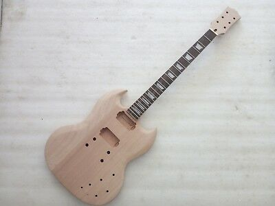 Best  Unfinished electric guitar body with neck Excellent handcraft parts