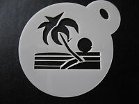 Laser Cut Small Palm Tree Sunshine Design,cookie,craft & Face Painting Stencil - laserblade - ebay.co.uk