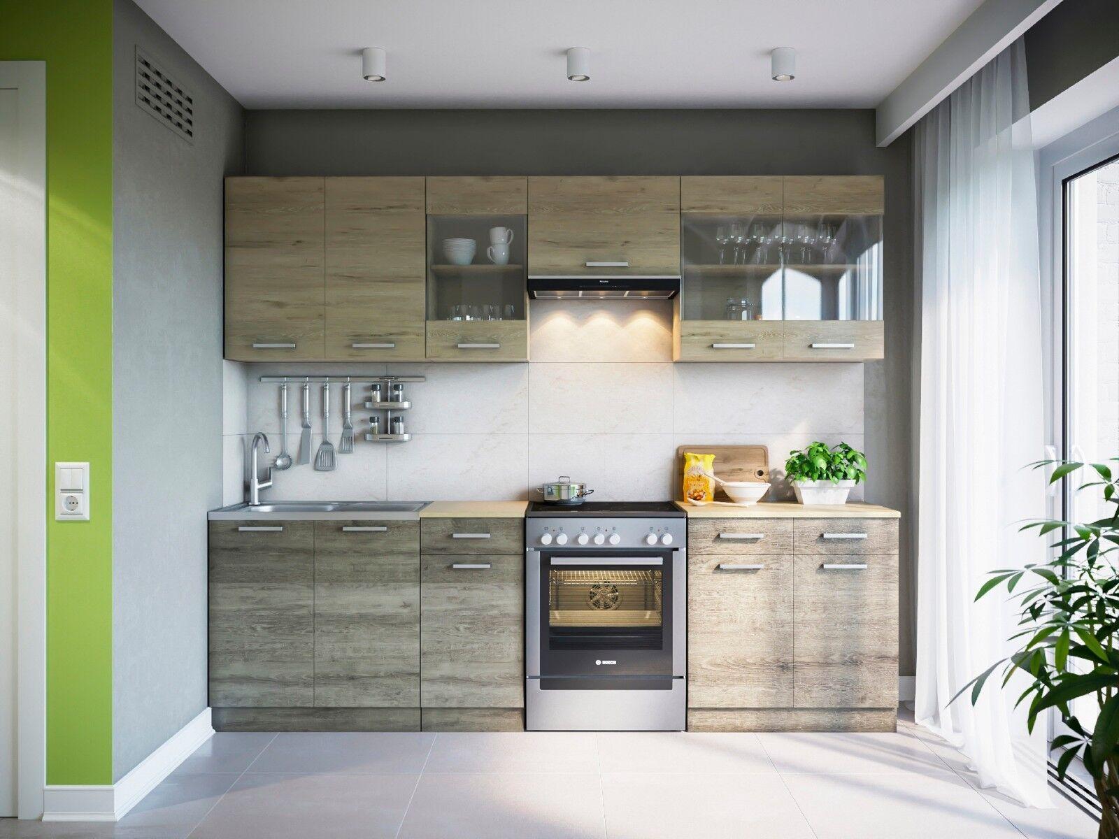 vicco k che 295 cm k chenzeile k chenblock einbau. Black Bedroom Furniture Sets. Home Design Ideas