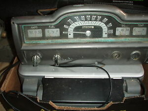 1951 PLYMOUTH DASH AND RADIO ,BATTERY,EMBLEM