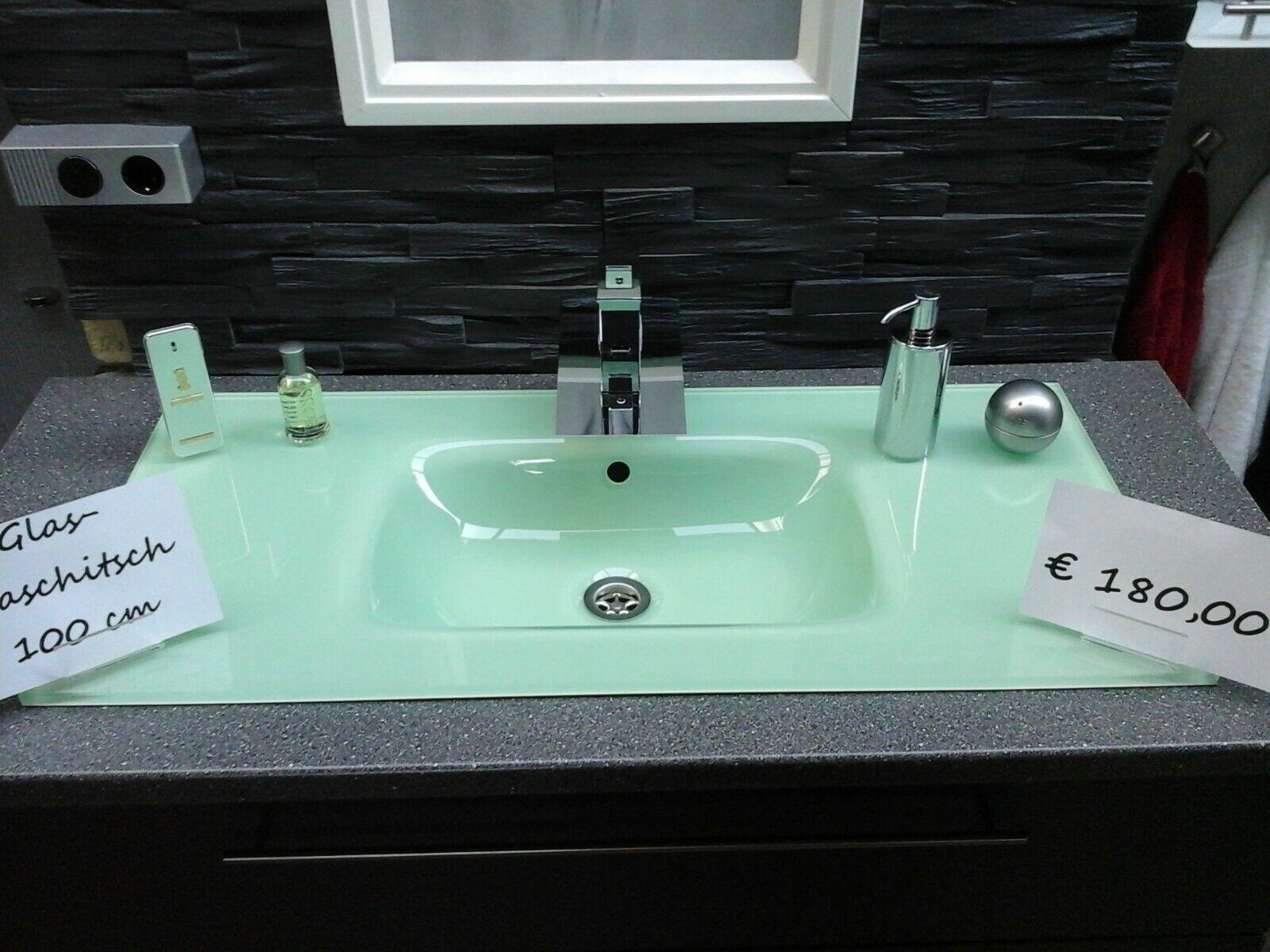 Glaswaschtisch Glaswaschbecken,Glas Waschbecken Glas Waschtisch 80,90,100 cm