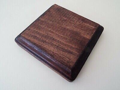 Mahogany Finish Square Wood Display Plaque.  Display Base.  Display Stand. Mahogany Finished Base