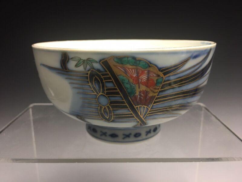 Antique Meiji Japanese Imari Porcelain Bowl 1850