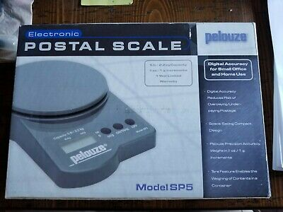 Pelouze Electronic Postal Scale - Model Sp5 - 5 Lb2.2 Kg Capacity Nib Fast Ship