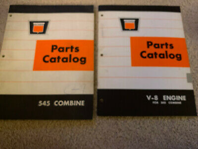 2 Oliver White 545 Combine V-8 Engine Parts Catalogs 1960s