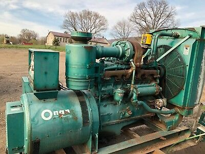 Onan Genset Cummins 335 Generator Genset Diesel Cat Voltage Adjustable