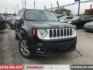 2017 Jeep Renegade Limited | NAV | LEATHER | ROOF | CAM