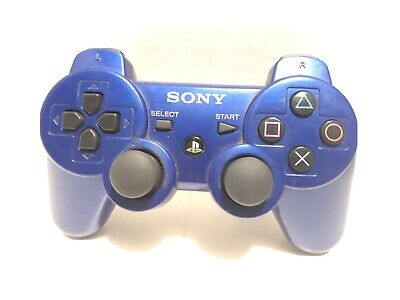 PS3 Official Sony Blue Wireless Dualshock 3 SIXAXIS Controller TESTED