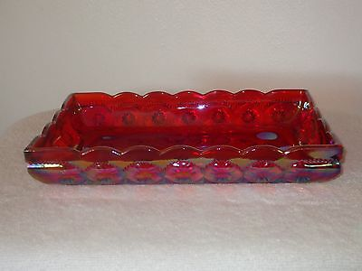 MOON AND STAR RED CARNIVAL BREAD TRAY