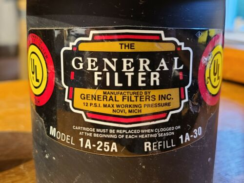 NEW OLD STOCK General Filters Model 1A-25A Fuel Oil Filter - FREE SHIPPING