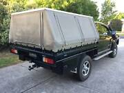 Steel Space Cab Ute Tray with Hard Top Canvas Canopy & Tool Boxes Gisborne Macedon Ranges Preview