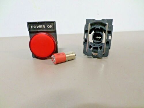 POWER ON Red Panel Indicator Lamp ZVB-6 Module with Bulb BSD-1319-6UR