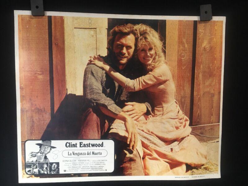 "1973 High Plains Drifter CLINT EASTWOOD Authentic MEXICAN LOBBY CARD~13.5""x11"""