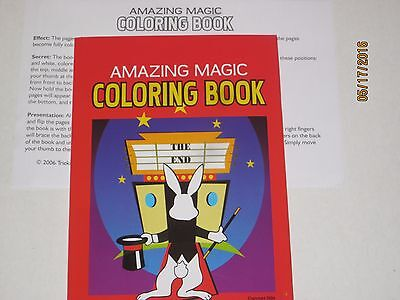 Amazing Magic Coloring Book Trick - Kids Parties, Pages Change, Stage, - Magic Coloring Book