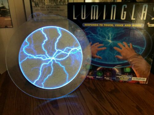 """Luminglas 16"""" Interactive light Lumiere. Responds To Touch, Voice & Music. Blue"""
