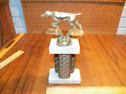 Vintage Dog Competition Trophy - Marble Base