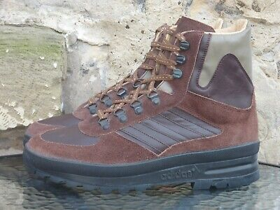 Vintage 1980s Adidas Trekking Boots UK9.5 Made In Yugoslavia OG 80s Winter Brown