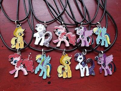 Birthday party favors ☆ Lot of 10 ☆Necklaces ☆MY LITTLE PONY *horses/ponies - My Little Pony Birthday Favors