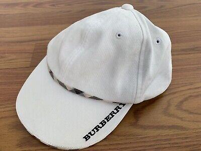 Burberry Auth Baby Boy Hat White Nova Check Size 52 2 3Y
