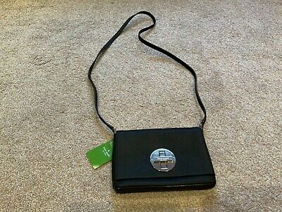 Kate Spade black leather mini shoulder bag, new with tag